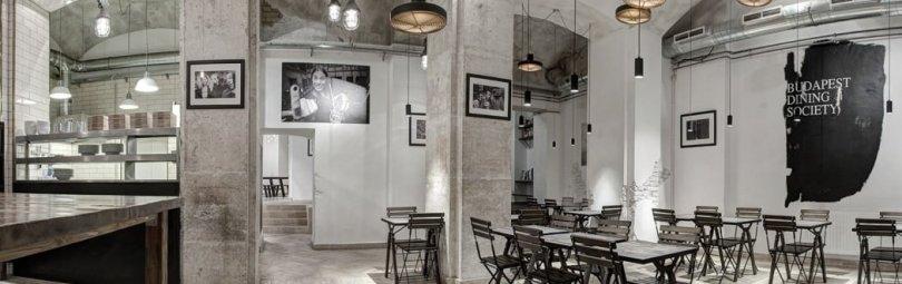 Ресторан в индустриальном стиле в Будапеште