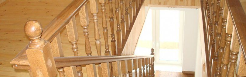 Лестница из берёзовой древесины