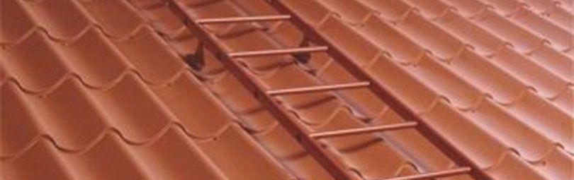 Надёжная и практичная лестница для крыши своими руками