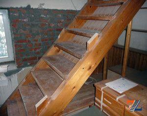 Добротная лестница в подвал