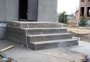 Монтаж и заливка бетонных проступей