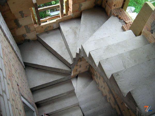 Своими руками винтовая бетонная лестница