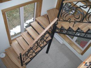 Комбинированная домашняя лестница