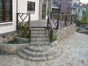 Битая тротуарная плитка для ступеней