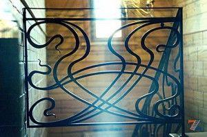 Кованые перила в стиле арт-нуво