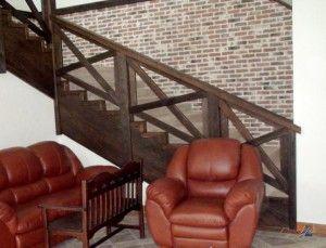 Перила лестницы в стиле кантри