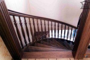 Перила лестницы в стиле эклектика