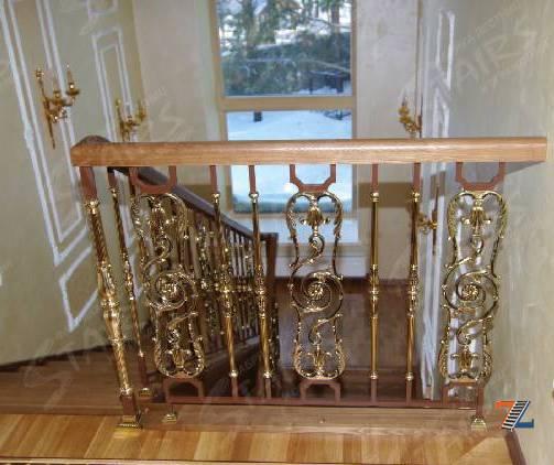 Простые перила для лестницы