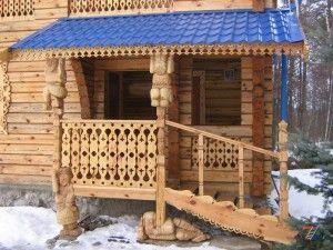 Идеальное ограждение деревянного крылечка