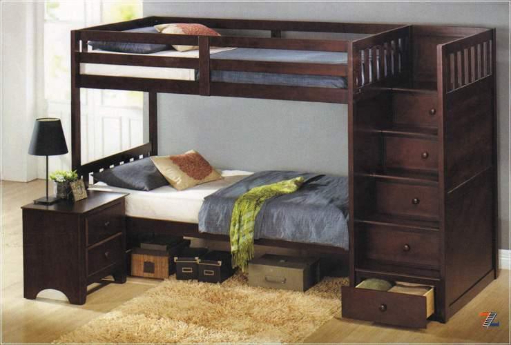 Кровать двухъярусная кровать с ящиками