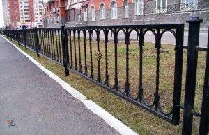 Сварные металлические газонные секции