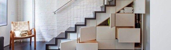 Полка под лестницей