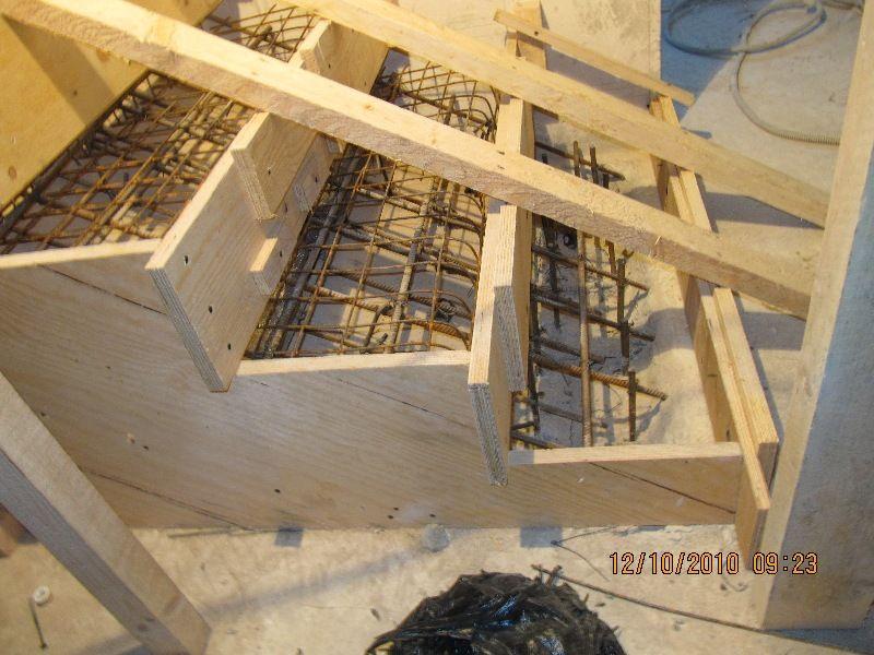 Как сделать монолитных лестниц