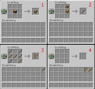 Как сделать лестницу в Minekraft