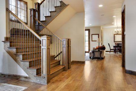 лестница в стиле шале