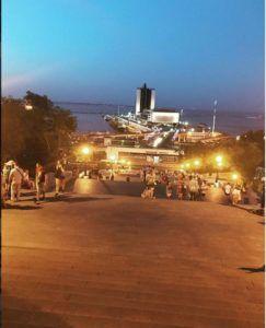 Потёмкинская лестница вечером