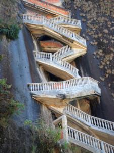Лестница на скале Эль-Пеньон-де-Гуатапе