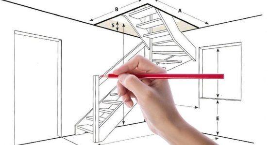 Делаем расчет чердачной лестницы