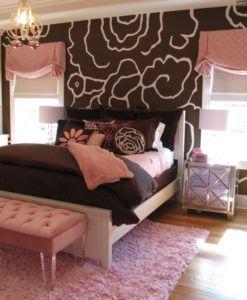 коричневый и розовый в интерьере