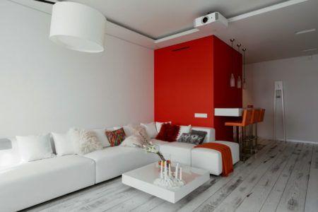 красный в дизайне интерьере
