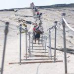 Лестница на скале Хаф-Доум в США