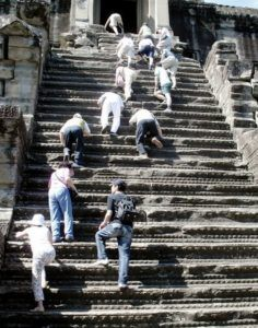 Лестница в Ангкор-Вате