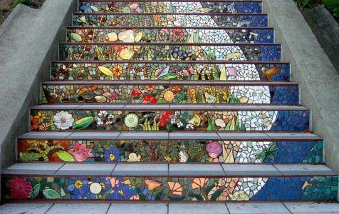 мозаичная лестница