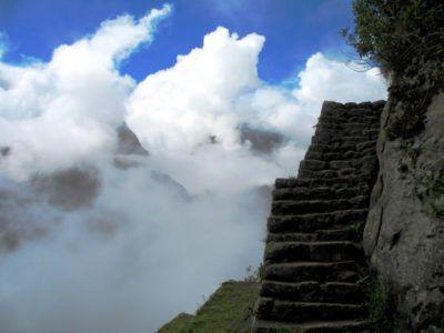 Лестница смерти в Мачу Пикчу