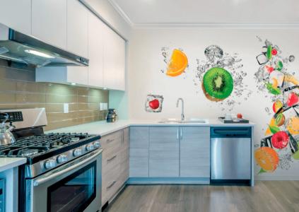 Фотообои в дизайне кухни