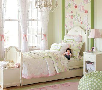 Романтичный интерьер детской для девочки