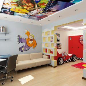 Оригинальное оформление потолка в комнате для ребёнка