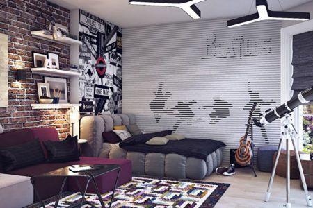 Дизайн детской комнаты в стиле лофт
