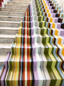 Rainbow Colored Stairway